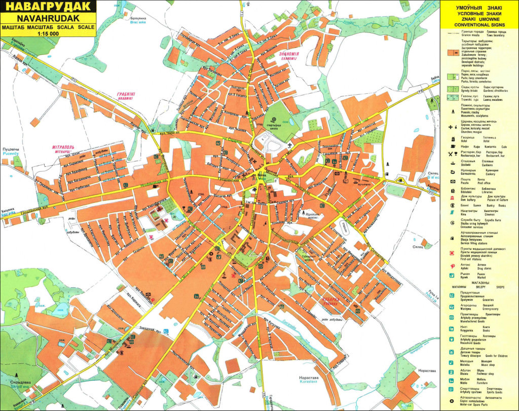 карта города Новоггрудка
