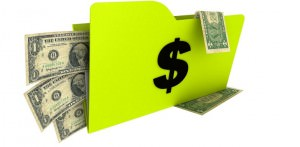 folder with dollars