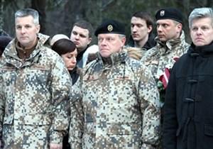 Белорусские военные в Латвии