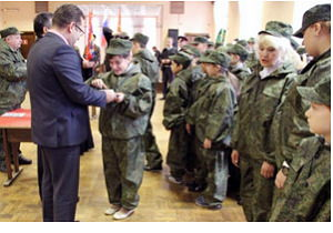 В Гродно школьников посвятили в казаки